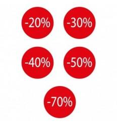 Vetrofania elettrostatica SALDi tondo percentuali