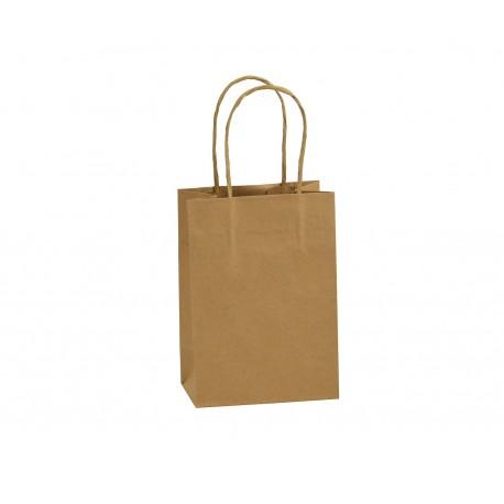 Mini Shoppers carta avana , maniglia ritorta
