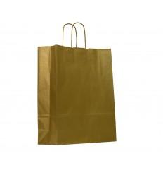 Shoppers carta colorata Oro, maniglie ritorte Oro