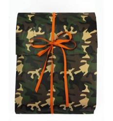 Sacchetto regalo carta fantasia Camouflage
