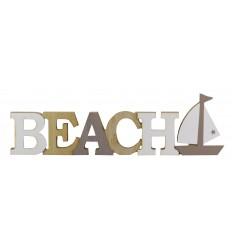 Scritta in legno BEACH
