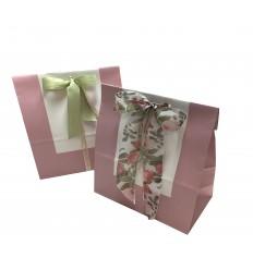 50 pz.Sacchetto fondo rettangolare colore Rosa