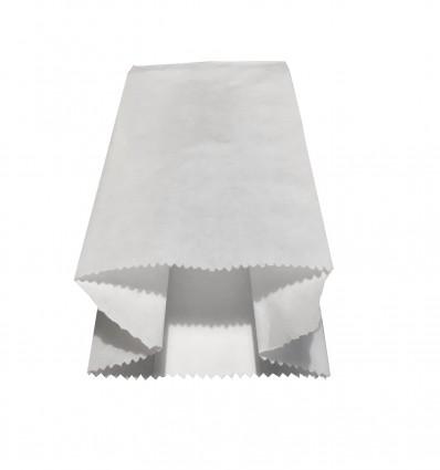 Mini sacchetto alimentari base 8 cm. in carta bianca
