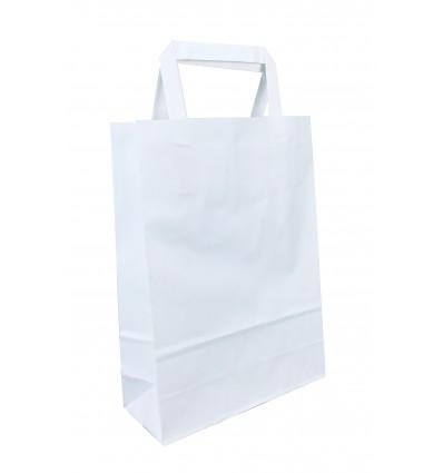 shoppers carta bianca , maniglia piatta