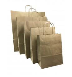 Shoppers in carta avana, maniglia ritorta