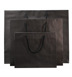 Shopper Carta Nero 4 Nodi 25 pz.