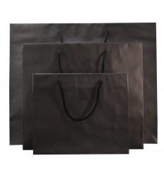 Shopper carta nero 4 nodi 25 pz.