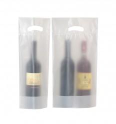 Portabottigla in plastica trasparente opaca per 1/2 bottiglie