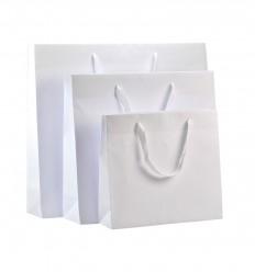 Shoppers carta bianca, maniglie annodate