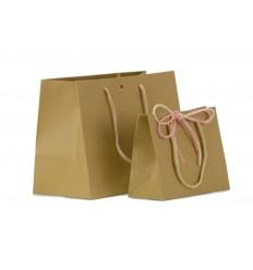 Shopper Mini fondo largo con cordone e foro centrale
