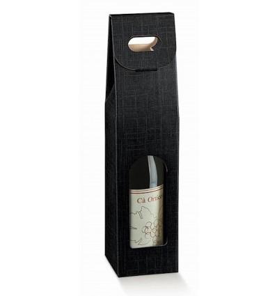 Porta bottiglie linea seta nero