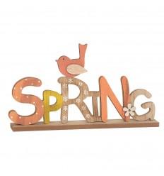 Scritta in legno spring