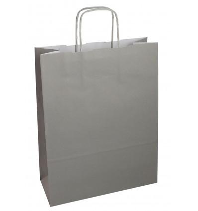 shopper grigio maniglia ritorta