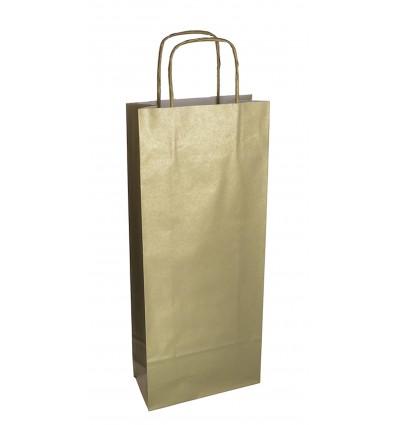 Shoppers portabottiglia Oro, maniglia ritorta Oro