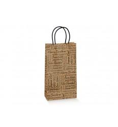 Shopper porta 2/3 bottiglie con fondo separatore Words