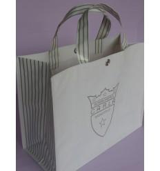 Shoppers personalizzate in tessuto intrecciato