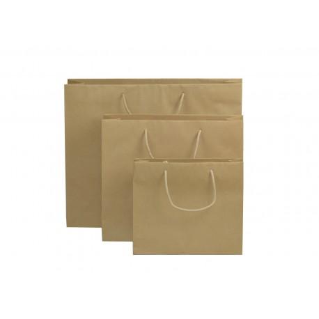 Shoppers carta avana liscia , maniglie annodate